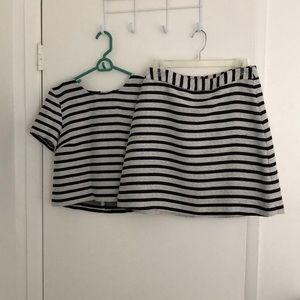 Tweed skirt set